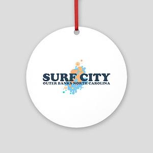 Surf City NC - Seashells Design Ornament (Round)