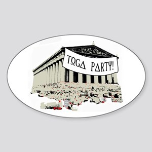 """Toga Party"" Sticker (Oval)"