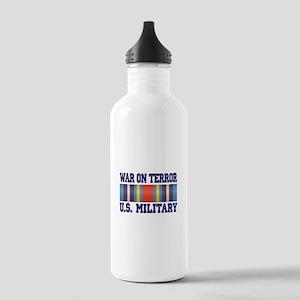 War On Terror Service Ribbon Stainless Water Bottl