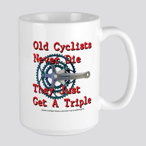 Old Cyclists Never Die Large Mug