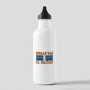 Korean War Service Ribbon Stainless Water Bottle 1