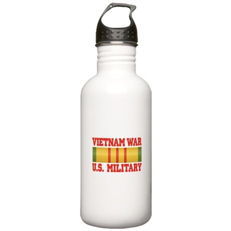 Vietnam War Service Ribbon Stainless Water Bottle