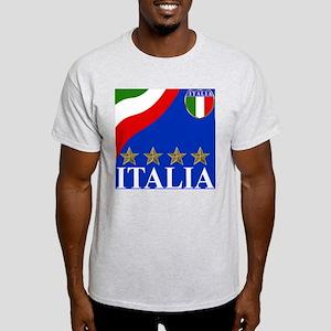 Italia 4 star Italian Ash Grey T-Shirt
