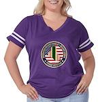 Desert Storm Veteran Women's Plus Size Football T-