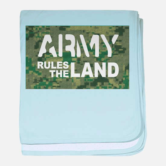 Army Rules Green Camo baby blanket