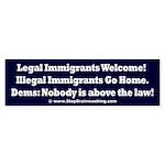 Above the Law - Illegals! Sticker (Bumper)
