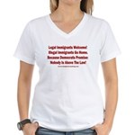 Above the Law - Illegals! Women's V-Neck T-Shirt