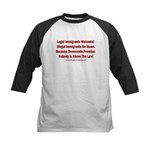 Above the Law - Illegals! Kids Baseball Tee