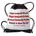 Above the Law - Illegals! Drawstring Bag