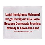 Above the Law - Illegals! Throw Blanket