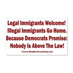 Above the Law - Illegals! 20x12 Wall Decal