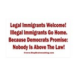 Above the Law - Illegals! 35x21 Wall Decal