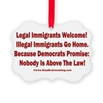 Above the Law - Illegals! Picture Ornament
