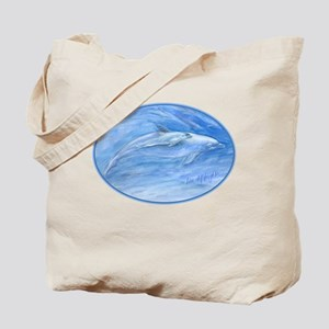 mom & baby dolphin Tote Bag