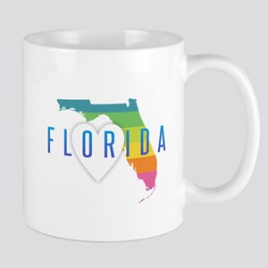 Florida Heart Rainbow Mugs