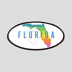 Florida Heart Rainbow Patch