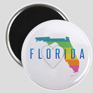 Florida Heart Rainbow Magnets