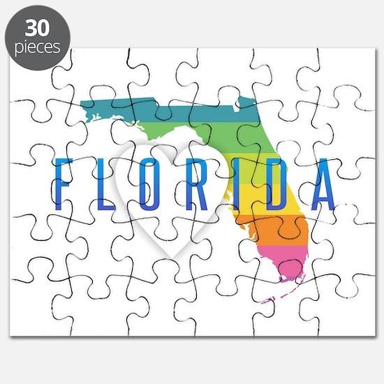 Florida Heart Rainbow Puzzle