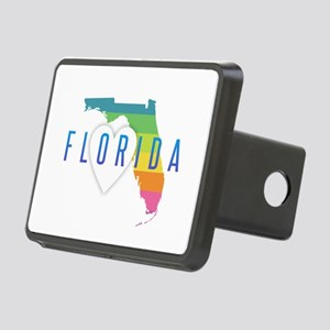 Florida Heart Rainbow Rectangular Hitch Cover