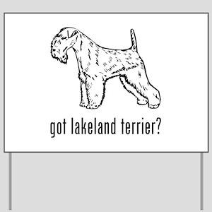 Lakeland Terrier Yard Sign