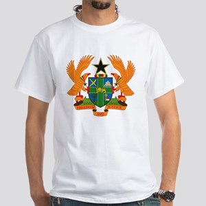 Ghana Coat of Arms White T-Shirt