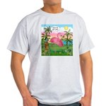 Golfing Flamingo Light T-Shirt