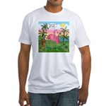 Golfing Flamingo Fitted T-Shirt