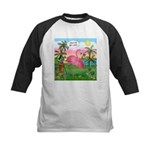 Golfing Flamingo Kids Baseball Jersey