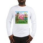 Golfing Flamingo Long Sleeve T-Shirt