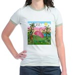 Golfing Flamingo Jr. Ringer T-Shirt