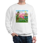 Golfing Flamingo Sweatshirt