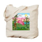 Golfing Flamingo Tote Bag