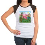 Golfing Flamingo Junior's Cap Sleeve T-Shirt