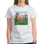 Golfing Flamingo Women's T-Shirt