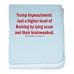 Borking Trump baby blanket