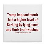Borking Trump Tile Coaster