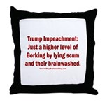 Borking Trump Throw Pillow