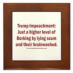 Borking Trump Framed Tile
