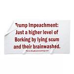 Borking Trump Beach Towel