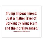 Borking Trump Small Poster
