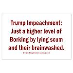 Borking Trump Large Poster