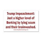 Borking Trump Car Magnet 20 x 12