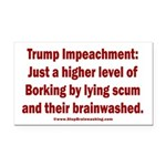Borking Trump Rectangle Car Magnet