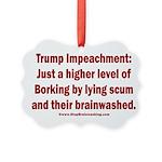Borking Trump Picture Ornament