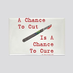 A Chance To Cut Red Rectangle Magnet