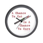 A Chance To Cut Red Wall Clock