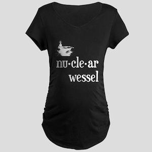 Nuclear Wessel Maternity Dark T-Shirt