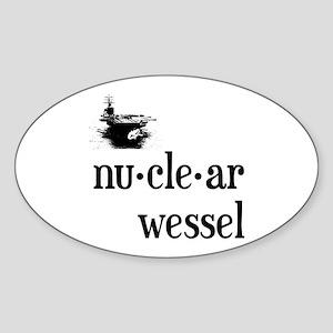 Nuclear Wessel Sticker (Oval 10 pk)