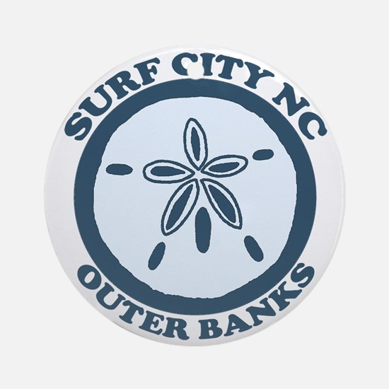 Surf City NC - Sand Dollar Design Ornament (Round)