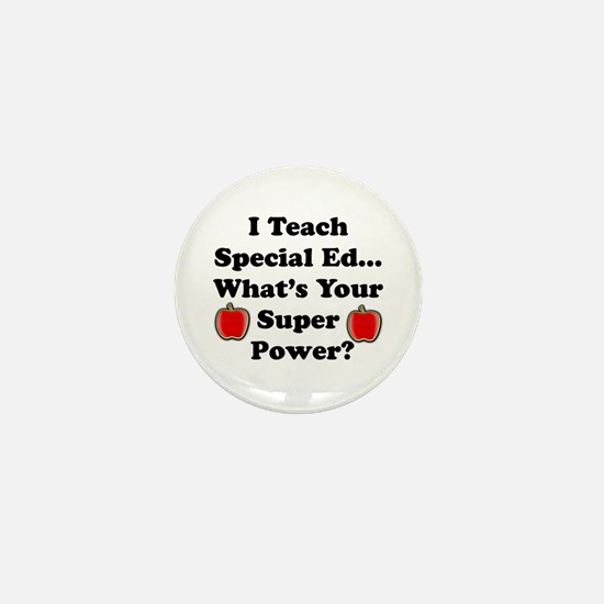Unique Super teacher Mini Button